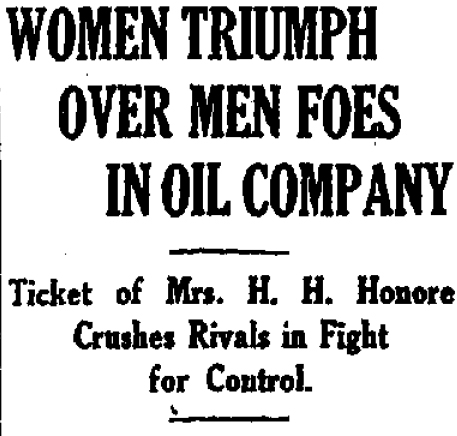 The victory was short lived, although the company failed soon after men join the board in 1920.
