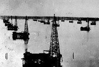 offshore oil history caddo lake oil derricks