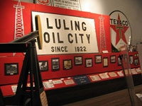 Central Texas Oil Patch Museum exhibit