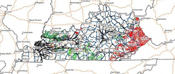 Kentucky's Great American Well petroleum producing counties