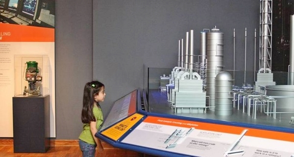 Oil museum in Beaumont, Texas, includes refinery exhibit.