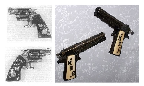 "The pistols of Manuel ""Lone Wolf"" Gonzaullas, Texas Ranger."