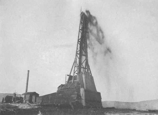 """Big Dutch"" No. 1 well of 1908 first Wyoming oil"