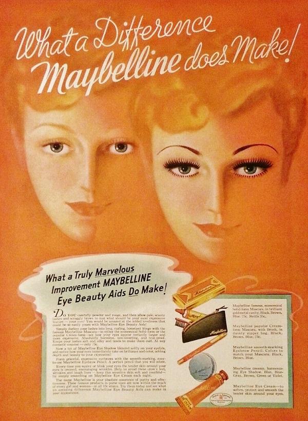 Vaseline history Maybelline ad
