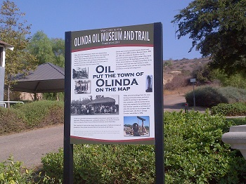 Welcome to the Olinda Oil Museum and Trail in California.