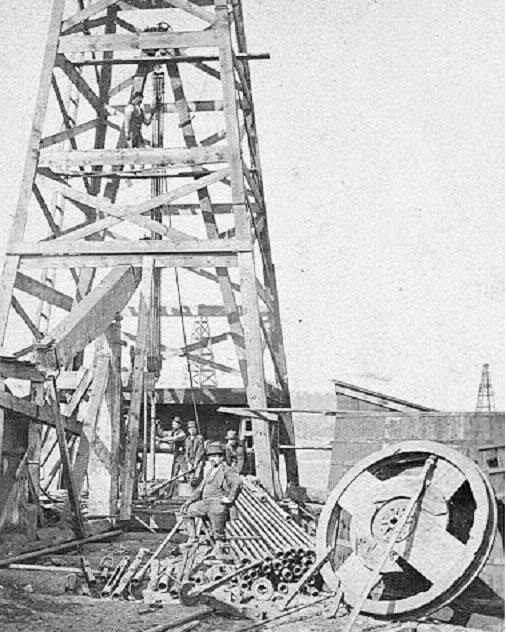 The term fishing came from early percussion drilling using cable-tools. When the derrick's Manila rope broke, a crewman lowered a hook and attempted to pull out the well's heavy iron bit. More advance attachments followed.
