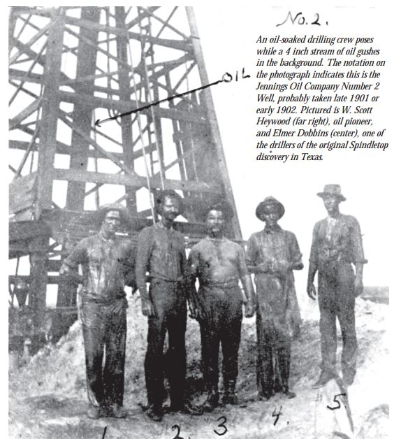 Scott Haywood and his oil well drilling crew circa early 1900s