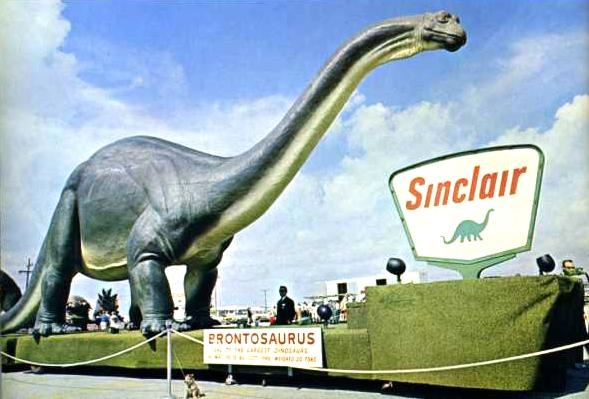 Traveling Sinclair dinosaurs like this visited shopping malls across United States.