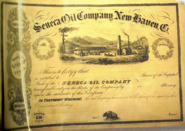first american well Seneca Oil Company stock certificate