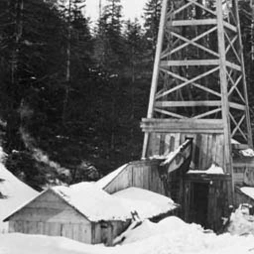 first Alaska oil well snow covered cable-tool derrick
