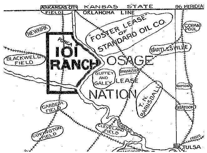 101 Ranch Oil Company map