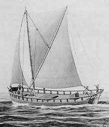Sailing vessel known as a brig