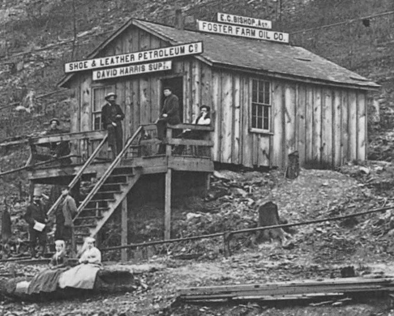 Foster Farm Oil Company building circa 1866,