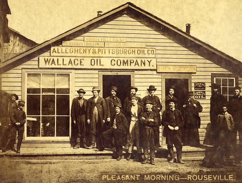 Wallace Oil Company building, circa 1875 building in the Pennsylvania oil region
